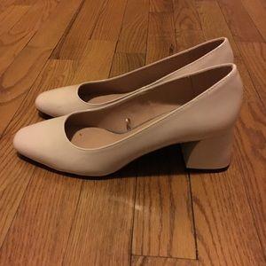 ZARA Nude Pink Classic Heels